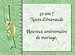 de mariage 40 ans noces dmeraude heureux anniversaire de mariage - Noce De Mariage 40 Ans